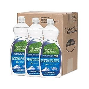 Seventh Generation Natural Dish Liquid - Fragrance Free - 25 oz - 3 pk