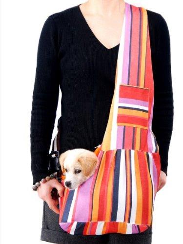 Evergreens Pet Sling Carrier Bag (Colorful, S)