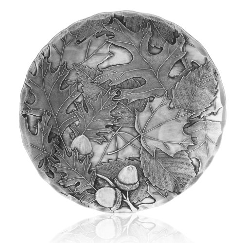 Coaster, Autumn, Hand-hammered Aluminum, Keeps Tabletops Safe, 4.5 Inch Round Coaster, Handmande in the USA by Wendell August Forge - 12999005 ()