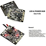 Usmile V3 5 in 1 PDB BEC 5V&12V LED Lighting Control Lost Plane Tracker Low Voltage Alarm LED & POWER for Mini quad FPV Racing quad Flexed wing F450 F550