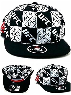 Reebok UFC New MMA Black White Checkerboard H.R.S.D. Era Snapback Hat Cap from Reebok