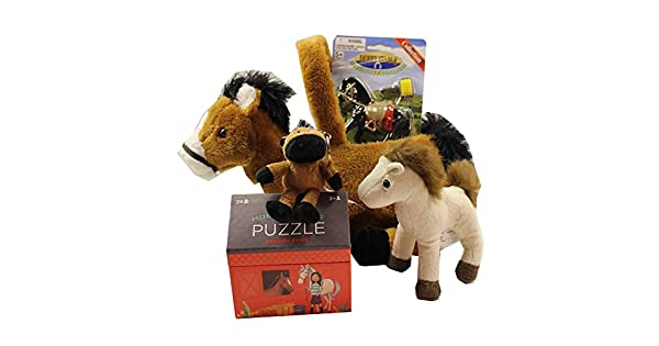 Amazon.com: Peluche Caballo Animal de peluche deluxe cesta ...