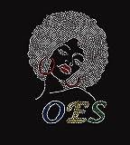 OES Afro Girl Rhinestone Iron on Transfer