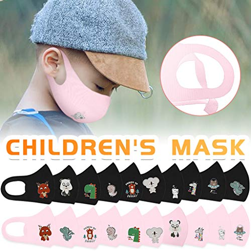 HomeMals Kids Face Covering Child Children Baby Covering Face Bandanas Washable Reusable Breathable Safety Protect