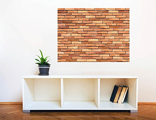 Removable Wall Sticker Wall Mural Seamless Brick Wall Creative Window View Wall Decor