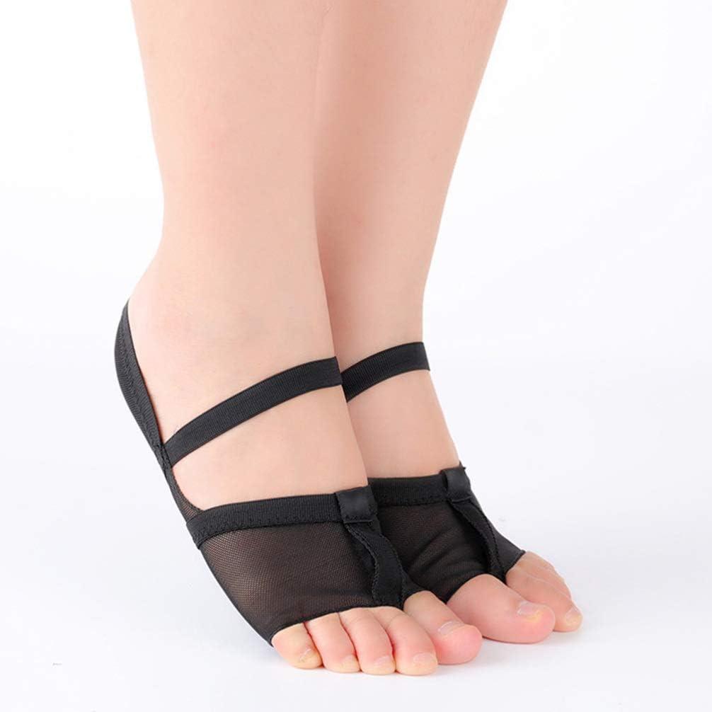 Black Milisten Ballet Dance Toe Pad Belly Dancing Practice Shoes Foot Thongs Dance Paws Sole Size 34