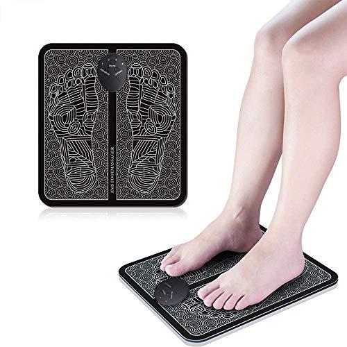 CHENAN ABS Stimulator, Foot Massager Mat, EMS/TENS Muscle Stimulation Foot Circulator, Foot Massager for Men Women, Relax Stiffness Muscles, Relieve Feet and Legs Pain