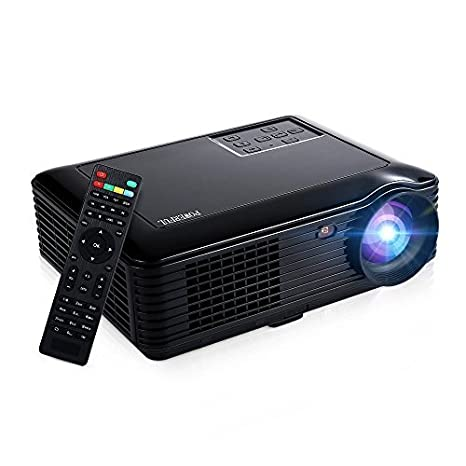 Projector (Updated), GBTIGER 4000 lumens HD Projector 1080P Support LED LCD Home Theater HDMI USB VGA AV SD for Game Party Home Entertainment ...