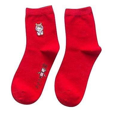 b6e2f4454b3 Cinnamou Chaussettes Rouges Chaudes De Coton D Hiver Sexy De Femmes  Chaussettes De Cadeau De