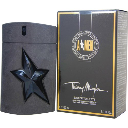 - Angel Men Pure Leather For Men by Thierry Mugler Eau De Toilette Spray 3.3 oz/100 ml