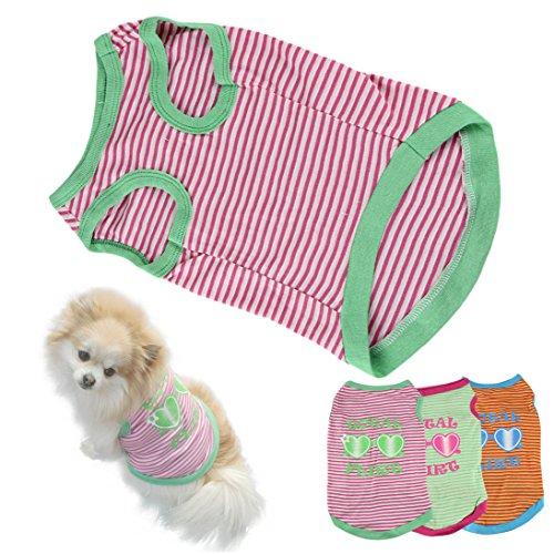 Image of HP95(TM Hot! Stripe Pet Puppy Summer Shirt Small Dog Cat Pet Clothes Vest T Shirt (S, A)