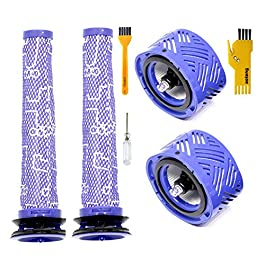 aoteng 2 Pre & 2 Post Filters Accessory for Dyson V6 Absolute Cordless Stick Vacuum Cleaner Replacement Parts