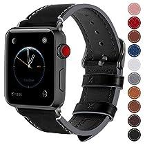 Fullmosa コンパチ Apple Watch バンド ベルト アップルウォッチバンド38mm 42mm Fullmosa apple watch series1 2 3 バンド 本革レザー 交換バンド ラグ付き