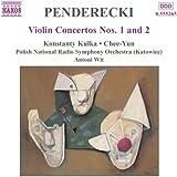 """Penderecki : Concertos pour violon et orchestre n° 1 et n° 2 """"Metamorphosen"""" (oeuvres pour orchestre vol. 4)"""