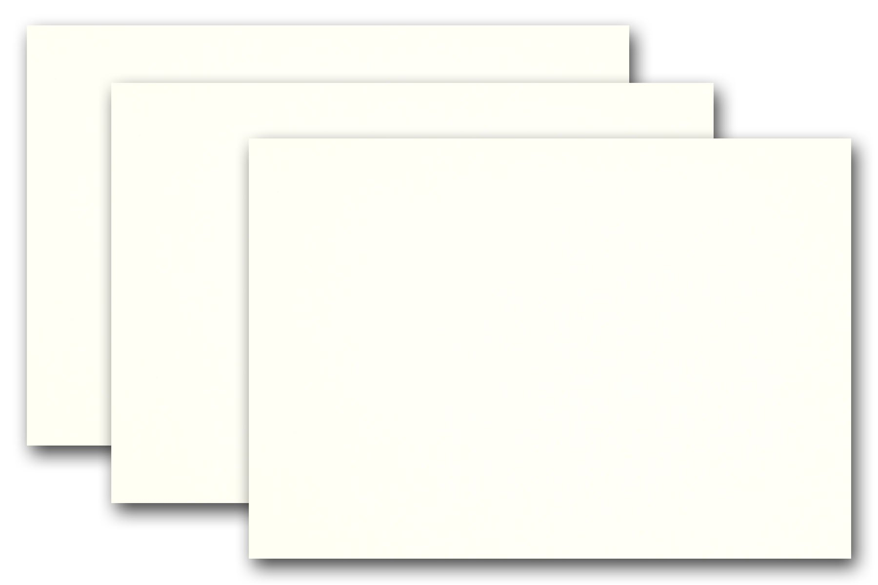Premium Colored Blank 8 1/2'' x 5 1/2'' Card Stock Half Letter A-9 Card Stock (250 Pack, Whip Cream)