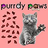 40-Pack Soft Nail Caps For Cat Claws RUBY RED GLITTER MEDIUM Purrdy Paws