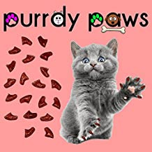 40-Pack RUBY RED GLITTER Soft Nail Caps For Cat Claws * Purrdy Paws Brand (Medium)