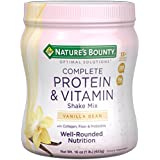 Natur's Bounty Optimal Solutions Protein Shake Vanilla, 16 Ounce Jar, Protein and Vitamin Shake Mix for Women, with Added Nutrients