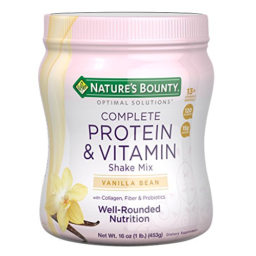 Nature's Bounty Optimal Solutions Protein Powder and Vitamin Supplement