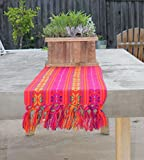 Del Mex Mexican Rebozo Shawl Blanket Doula (Small (14'' by 80''), Red)