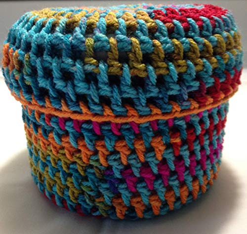 Toilet Paper Cover Continuous Yarn Colored Crochet