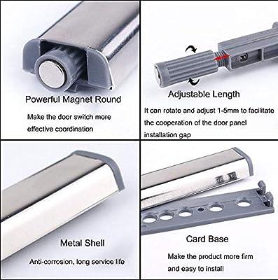 SPTwj 10 unidades de bisagras para puerta de armarios con sistema de amortiguaci/ón de presi/ón para abrir