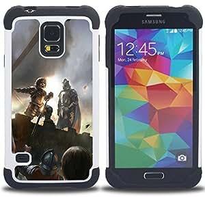 """SAMSUNG Galaxy S5 V / i9600 / SM-G900 - 3 en 1 impreso colorido de Altas Prestaciones PC Funda chaqueta Negro cubierta gel silicona suave (Peter Dinklage"""")"""