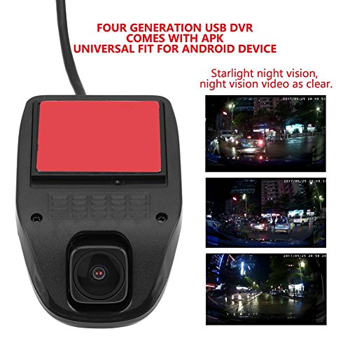 Acouto 1080P HD USB Camera Car DVR Video Driving Recorder with Night Vision for Android System by Acouto (Image #2)