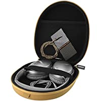 Headphones Carrying Case for Bose QuietComfort QC35, QC25, QC2, QC15, AE2w, AE2i, AE2, SoundLink, SoundTrue / Headset Full Size Hard Travel Bag (Light Brown)