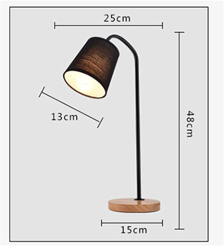 LPCMLS Creative Bedroom Bedside Lamp Table Lamp 3 Lighting Modes with 3 Brightness Levels, Black (Color : White) Black