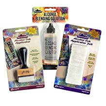 Adirondack Alcohol Ink Stamp Handle Felt Bundle Blending Tool Pads Solution