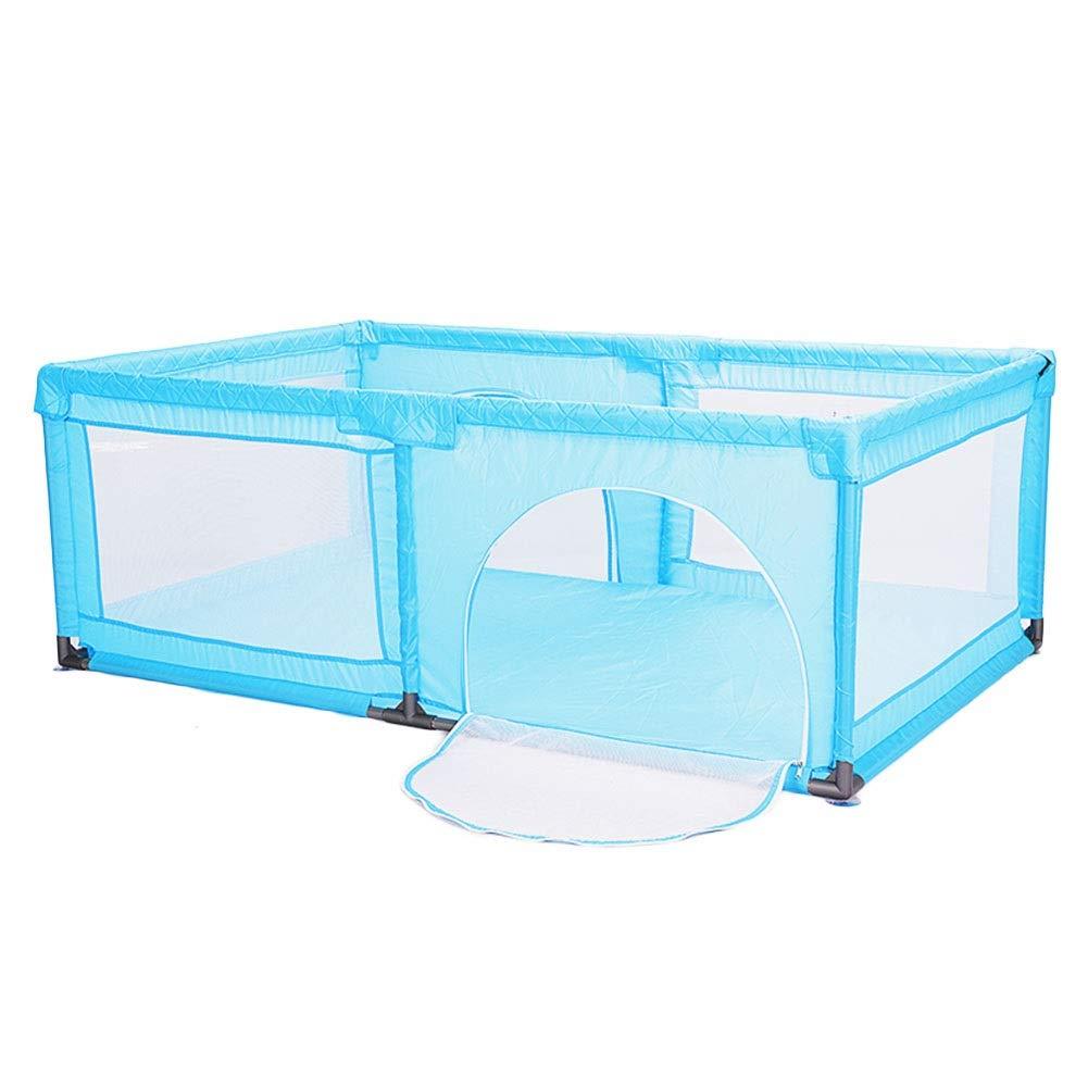 人気満点 ベビーフェンス マットとボール、幼児の携帯用Playardの子供用ゲームフェンス、180 x 190 x 70 cm (色 : 青)  青 B07PK6XMLT, ダイエイチョウ 0b560bc9