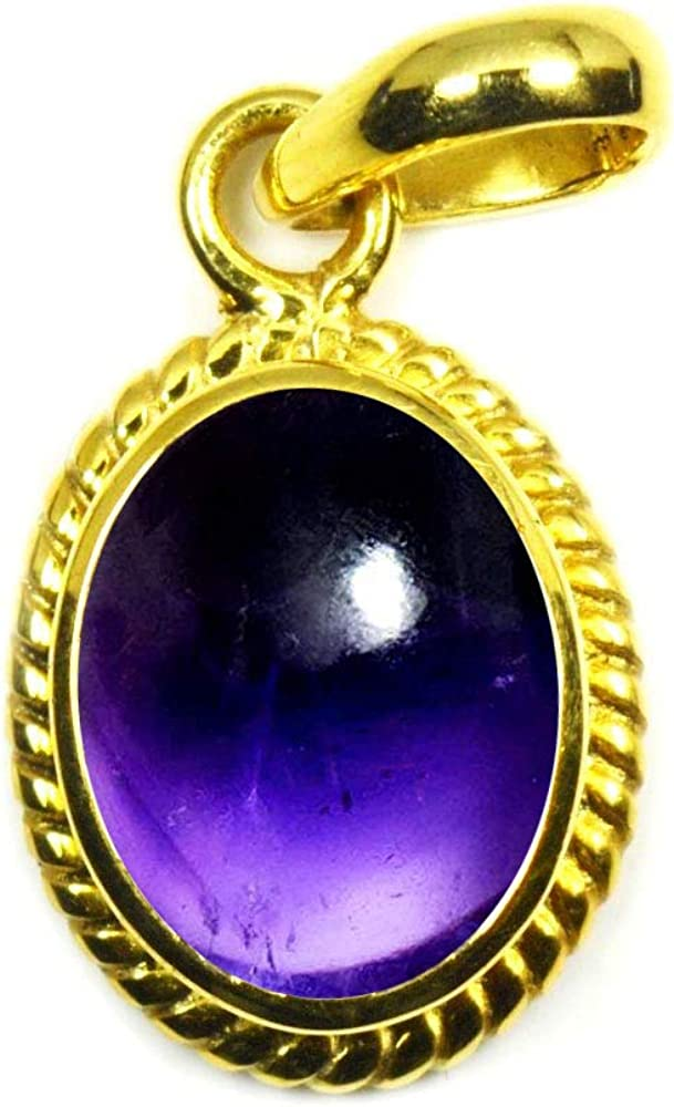 Jewelryonclick Choose Your Color Natural Gemstones Chakra Healing 5 Carat Gold Plated Pendants for Women