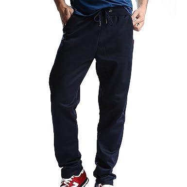 Pantalon de jogging pour hommes -Comfortable Pantalon de taille élastique  Jogging Yoga Sports Pantalons décontractés fc783e9a1368