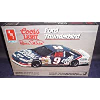 # 6740 AMT /Ertl Bil Elliott # 9 Coors Light Ford Thunderbird 1/25 escala modelo plástico de AMT Ertl