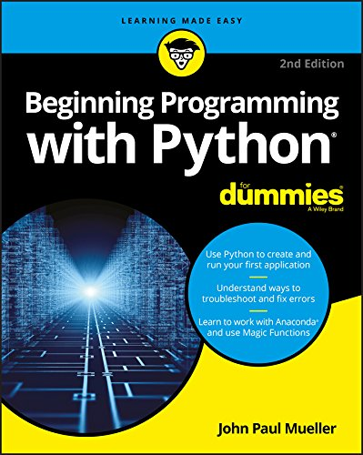 Book cover of Beginning Programming with Python For Dummies by John Paul Mueller