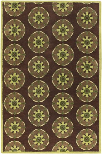 Dharma Collection Hand-tufted Contemporary Rug (7'9 Round) by Chandra Rugs
