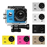 Excellent.advanced Action Camera,4K Sport Cam WiFi Waterproof Camera 170° Ultra Wide Angle Len with Remote Control and Mounting Accessories Kits (Black)