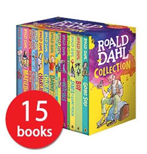 Roald Dahl Collection 15 Fantastic Stories Box Set Including Boy, The BFG, Matilda and Charlie and the Chocolate Factory -