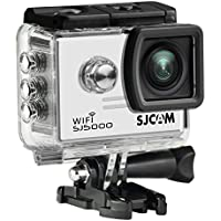 WiFi 14MP 1080P 60FPS Full HD CMOS Action Sport Camera - White + Black