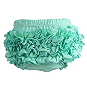 Wennikids Baby Girl's Cotton Shorts and Diaper Cover Bloomers Small Aqua