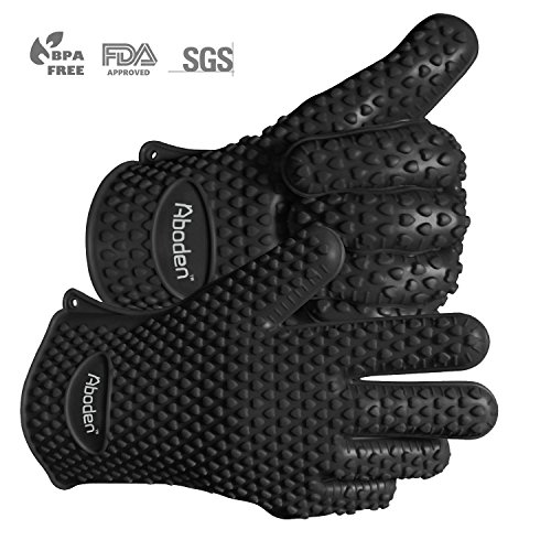 aboden-silicone-heat-resistant-grilling-bbq-gloves-for-cooking-baking-smoking-potholder-pack-of-2-bl