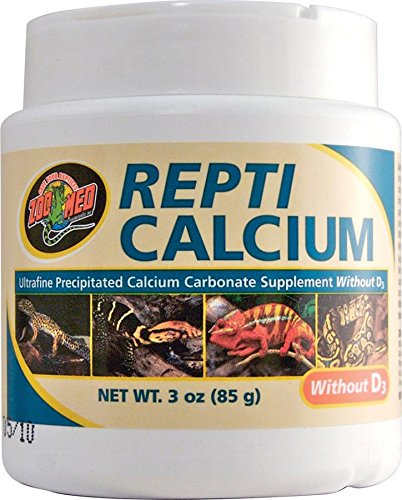 Zoo Med Calcium Without Vitamin D3 Reptile Food, -