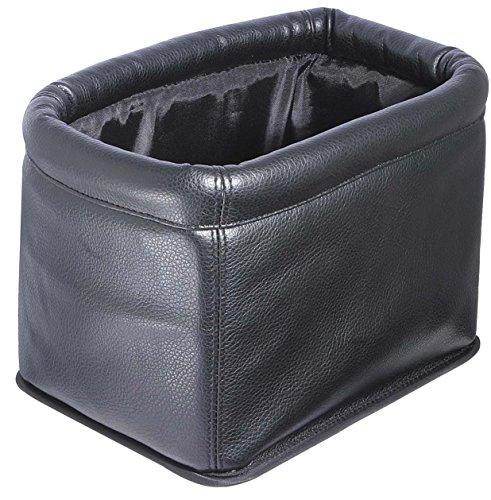 《나포렛쿠스》 차용쓰레기상 더스트 박스 가죽조 블랙 대용량