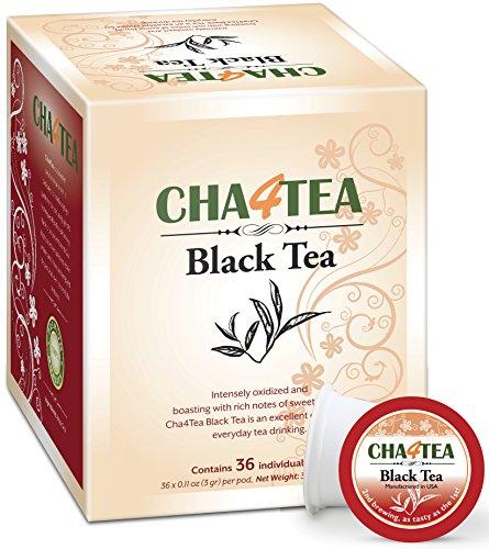 Cha4TEA 36-Count Black Tea K Cups for Keurig K-Cup (K-cups Black Tea)