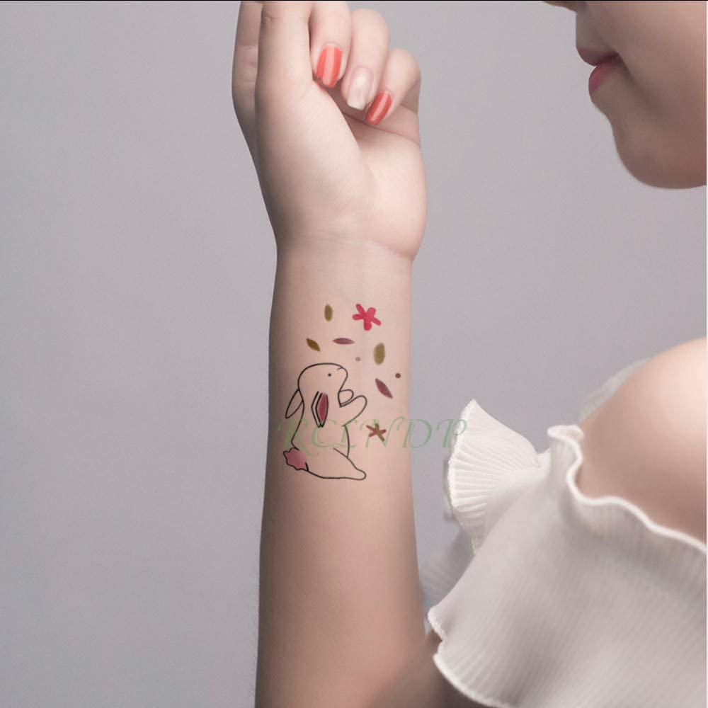tzxdbh Etiqueta engomada del Tatuaje Temporal Impermeable Conejo ...