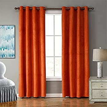 blackout bedroom curtains. Blackout Window Curtain Panel Grommet for  Bedroom Restaurant living room Amazon com Deconovo Room Darkening Thermal Insulated
