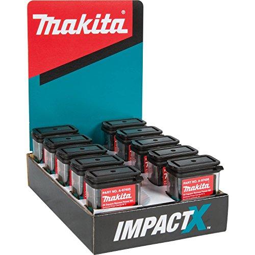 - Makita A-97405-10 Impactx #2 Square Recess 2″ Power Bit, 10 x 15 Pack, Display