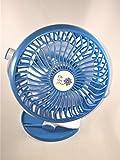 clip fan for car - The Fan Pros Mini Clip Fan - for Office, Car, Stroller, etc - Green, Blue or Pink (Blue)