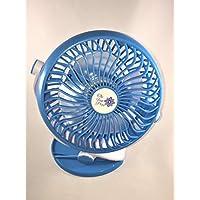 The Fan Pros Mini Clip Fan - for Office, Car, Stroller, etc - Green, Blue or Pink (Blue)